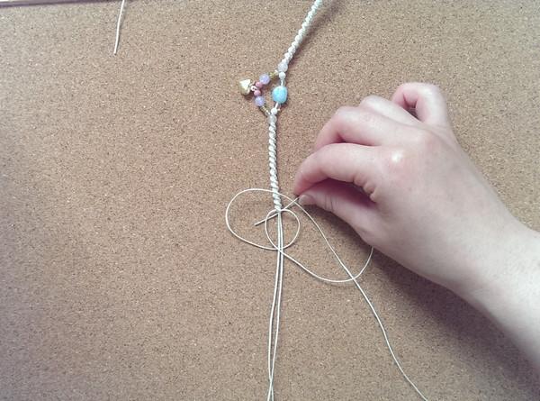 編み アンクレット 編み方16