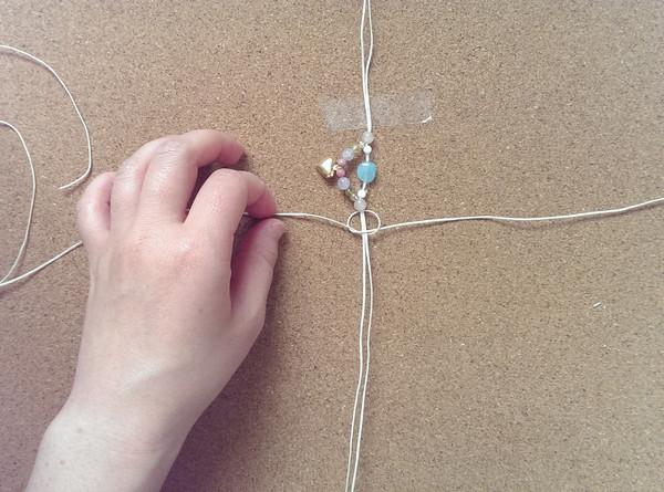 編み アンクレット 編み方5