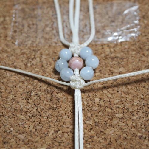お花編みブレスレット 編み方 ろうびき紐
