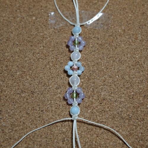 お花編みブレスレット 編み方 作り方