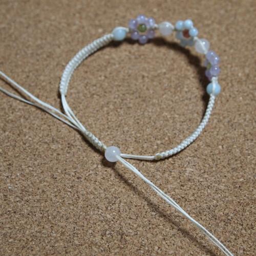 ロウビキ紐 編みブレスレット 編み方